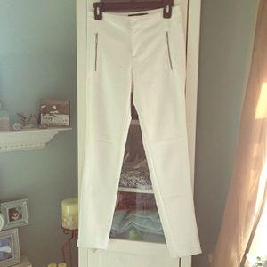 zara white ankle pants